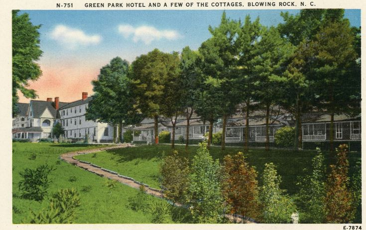 BLOWING ROCK NORTH CAROLINA GREEN PARK HOTEL LINEN POSTCARD | eBay