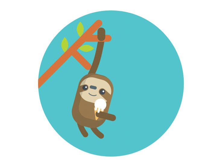 Sloth & Ice Cream by Jeff Chang for HR Cloud