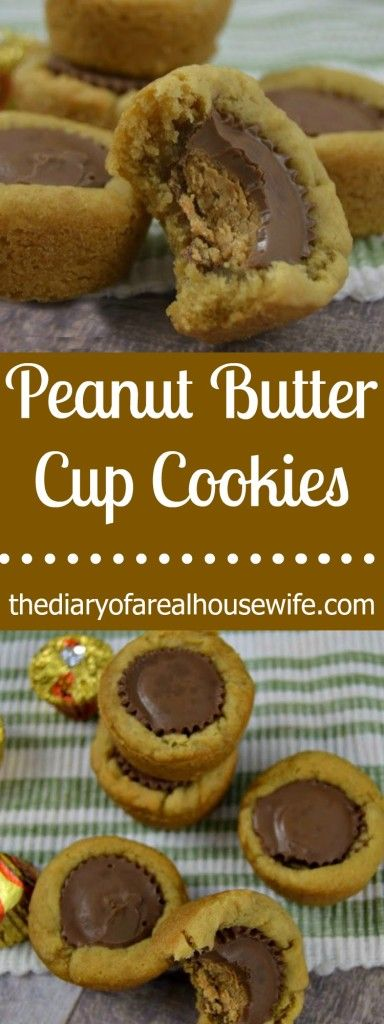 The BEST cookie recipe ever. Please try this asap!! Peanut Butter Cup Cookies