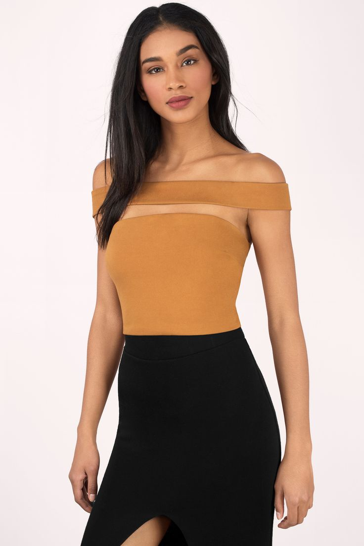 "Search ""Claudia Camel Crop Top"" on Tobi.com! strapless faux off shoulder cropped tight form fitting #ShopTobi #fashion shop buy cheap inexpensive ideas chic fashion style fashionable stylish comfy simple chic essential capsule Basic outfit simple easy trendy ideas for women teens girls night out going clubbing vegas dancing dance party cute sexy edgy glam fall winter summer spring college outfit outfits clubwear curves parties casual bar classy jeans"