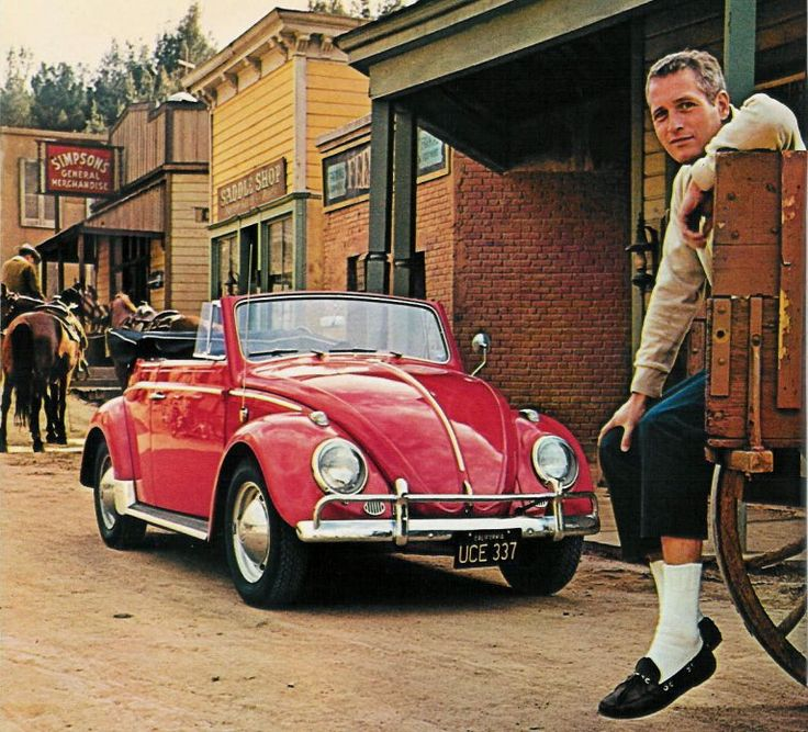 """""""There are two Newman's laws. The first one is 'It is useless to put on your brakes when you're upside down.' The second is 'Just when things look darkest, they go black.'  Paul Newman & his VW"""
