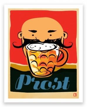 Celebrate Prost Art Print