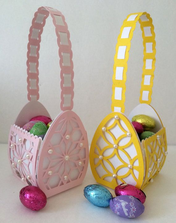 Easter Egg Basket SVG With Decorative Patterns by MyCasualWhimsy, $1.29:
