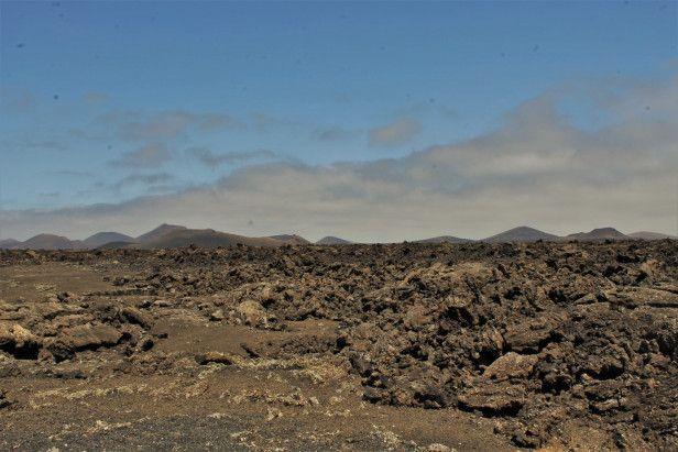 Desert de roche à Lanzarote, iles Canaris