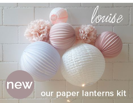 nursery and home paper lanterns ready to hang