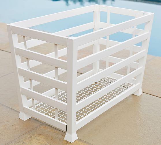 Malibu Pool Storage Accessories Bin White Pool Furniture