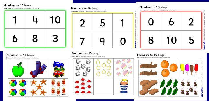 Numbers to 10 counting bingo (SB2039) - SparkleBox: Cijfers Rekenen, En Cijfers, Po1 2 Cijfers Tellen, Counted Bingo, Rekenen Tellen, Sparklebox Repin By Pinterest, Cijfers En, Onderwijs Rekenen, 10 Counted