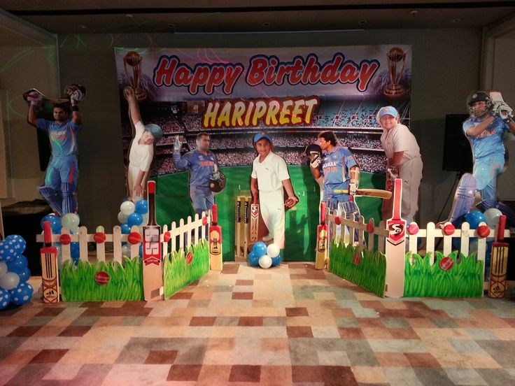 cricket boy's party theme