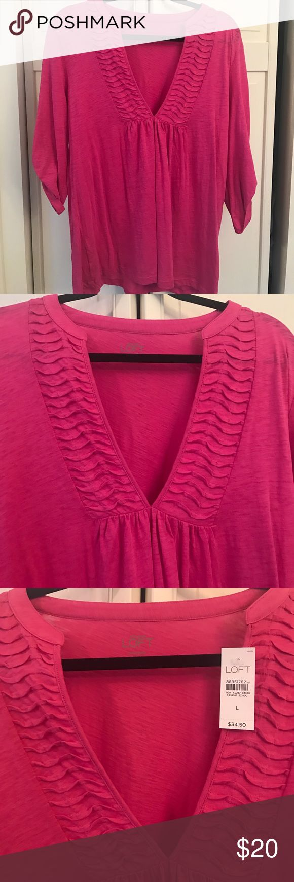 Brand New Anne Taylor LOFT tunic top Brand New Anne Taylor LOFT pink tunic top Size Large anne taylor LOFT Tops Tunics