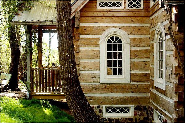 25 best ideas about log cabin exterior on pinterest log for Log cabin window