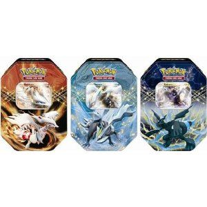 Pokemon-EX explode into the Pokemon Trading Card Game, and your battles will never be the same! Each Pokemon TCG: EX Tin contains 1 of 3 powerful Pokemon-EX as a special foil card, plus 4 Pokemon TCG booster packs AND a BONUS code card for the Pokemon Trading Card Game Online. With the EX Tin, expect your next battles to be extraordinary!
