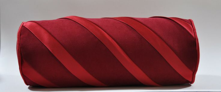 Red Swirl Bolster Pillow The Sewing And Design Studio From Kimberly Morgan Pinterest