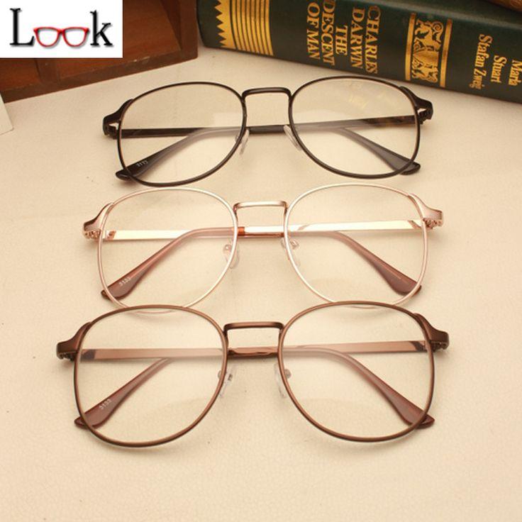 2016 Retro Square Metal Glasses Frame Optical Eye Glasses Frames For Women & Men Prescription Eyewear Clear Lens Glasses Oculos -in Eyewear Frames from Men's Clothing & Accessories on Aliexpress.com | Alibaba Group