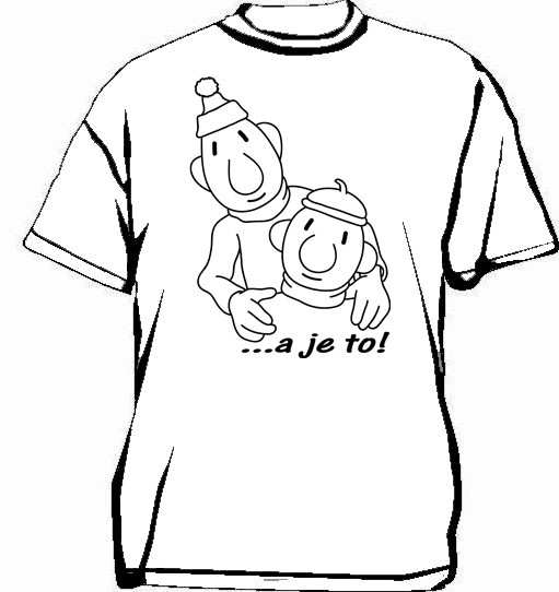 Buurman en Buurman T-shirt SCHETS WIT