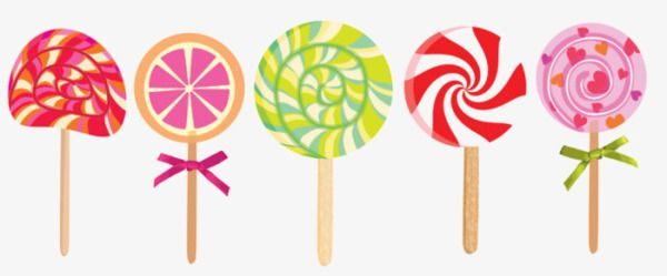 Piruletas De Caramelo De Color De Dibujos Animados Piruletas Caramelos Dibujos Paletas De Caramelo