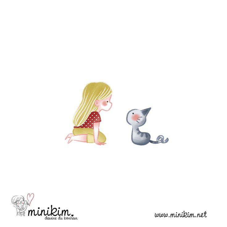 Les 25 meilleures id es de la cat gorie chat kawaii sur - Dessiner un bisou ...