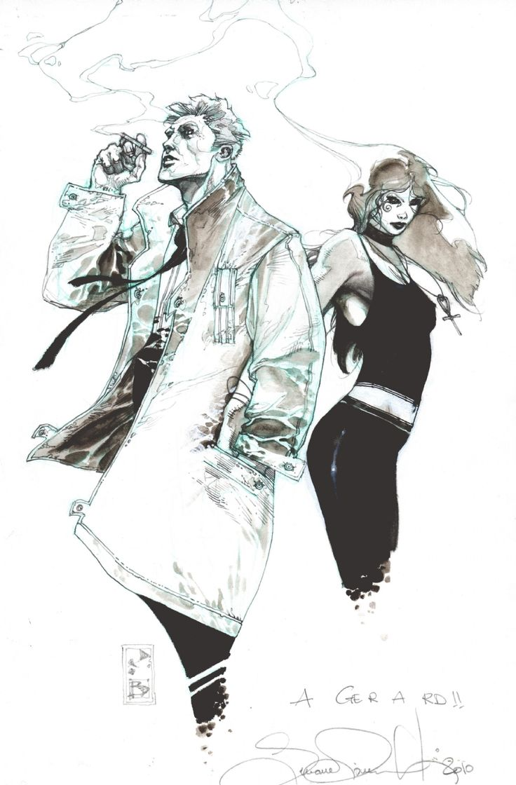 Death and John Constantine by Simone Bianchi
