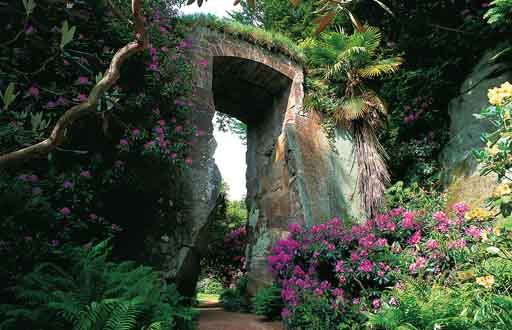 Belsay Hall and Garden, Northumberland, England.
