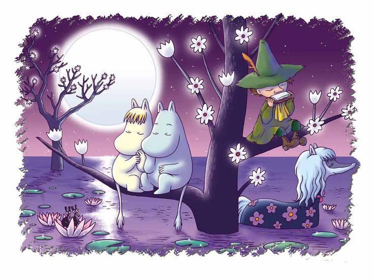 Los Mumins, personajes creados por a escritora y dibujante finlandesa Tove Jansson. Son una familia de trolls escandinavos blancos