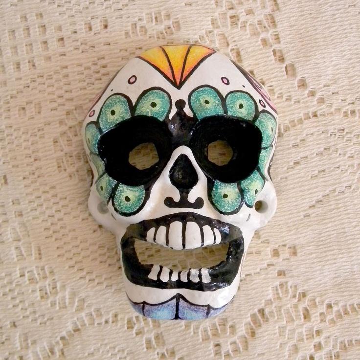 sugar skull bottle opener, via Etsy. | Full Time Etsy ...