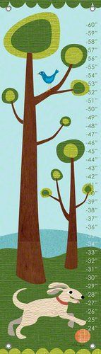 #babydecor Height charts are a great way to create a keepsake to treasure long after your child grows past the measurements. This contemporary #growth chart with...