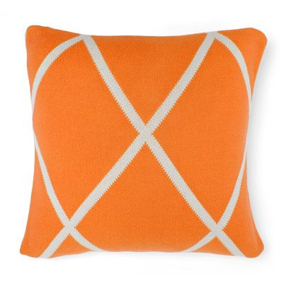 Diamond Cushion in Orange Poppy 50cm
