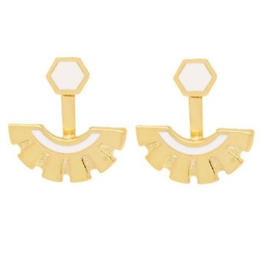 Victoria Earrings in Gold - available in gold and silver.$24.00 Get 25% off these earrings with coupon code 'foxy pin' www.foxyoriginals... #goldjewelry, #goldearrings, #foxyoriginals, #earjackets, #sistergift, #goldearjackets, #jewelrygift, #cutepackaging, #holidaygift, #birthdaygift, #momgift, sister gift, jewelry gift, best friend gift, holiday gift, teenager gift, birthday gift, silver jewelry, cute packaging, gold packaging