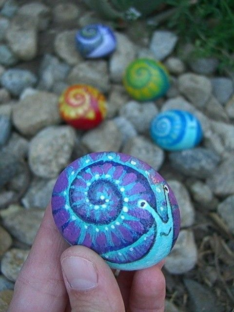 BOWL O' SNAILS have some fun with this group of by MyGardenRocks
