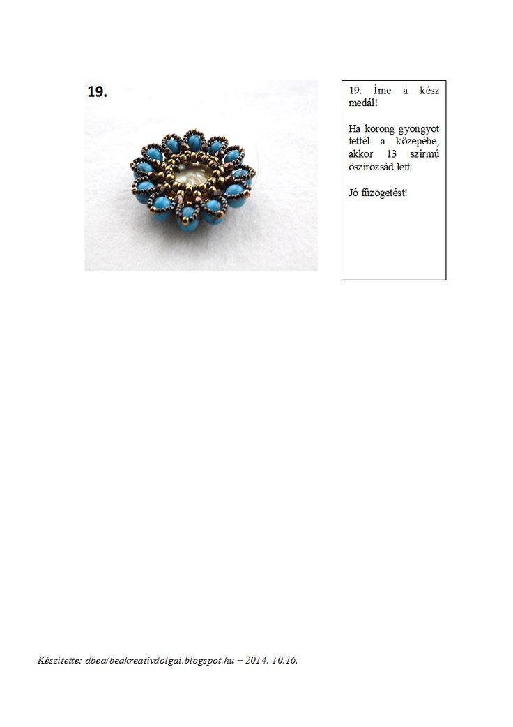 dbea: Őszirózsa medál minta
