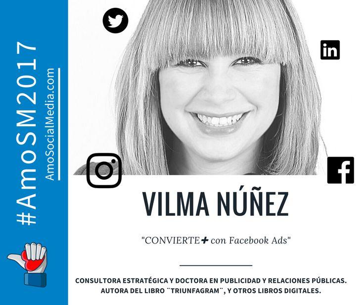 Vilma Nuñez es Co-fundadora de Bloonder & tycSocial y es una de las expertas que nos estará acompañando en #AmoSM2017 y nos hablará sobre la importancia de Facebook Ads para que seamos unos expertos en nuestro día a día como marketeros.