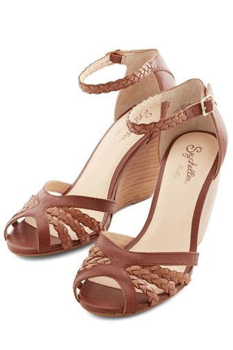 #brown braided strapped wedges http://rstyle.me/n/jt8tdr9te