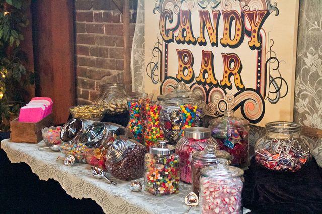 Candy Bar at a Rustic Wedding #rustic #weddingcandy