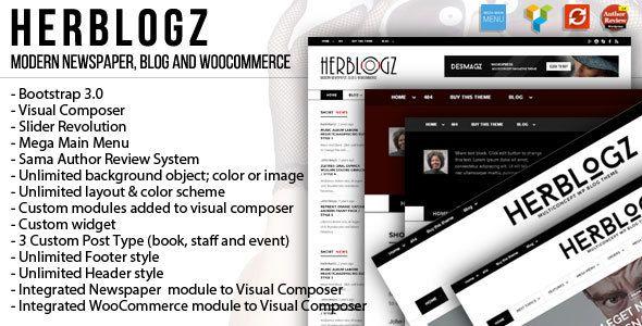 HerBlogz - Clean WP Multiconcept Magazine Theme