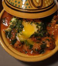 cuisine marocaine - recette marocaine du tajine de kefta aux oeufs