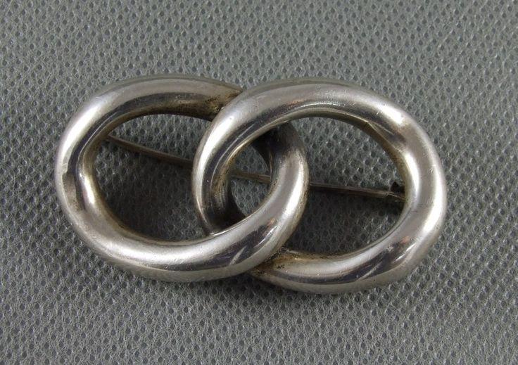 ORNO WARSZAWA srebrna brosza PR.800