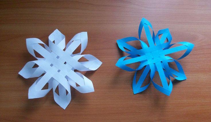 Поделки на Новый Год. #КакСделать Объемную Снежинку #из Бумаги Своими Руками #origami #christmasdecor