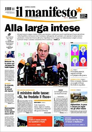 IL MANIFESTO 2013.04.03 - IMMAGINE DELLA PRIMA PAGINA