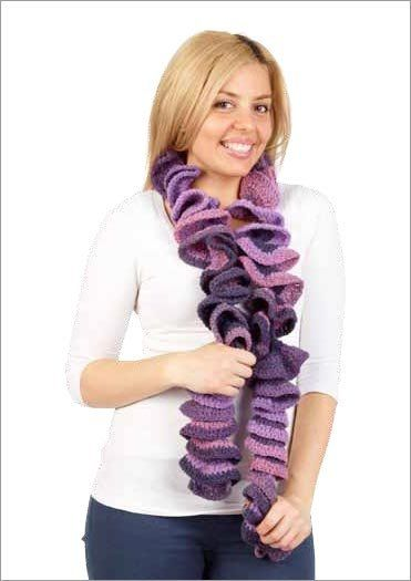 Kitten Ruffled Scarf - Project - Spotlight Australia