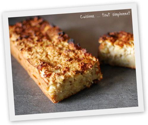 Cake aux Flocons d'avoine et aux Pommes - Cuisiner... tout Simplement, Le Blog de cuisine de Nathalie TEST DE SOPHIE ! Facile à faire mais pas à mon goût !