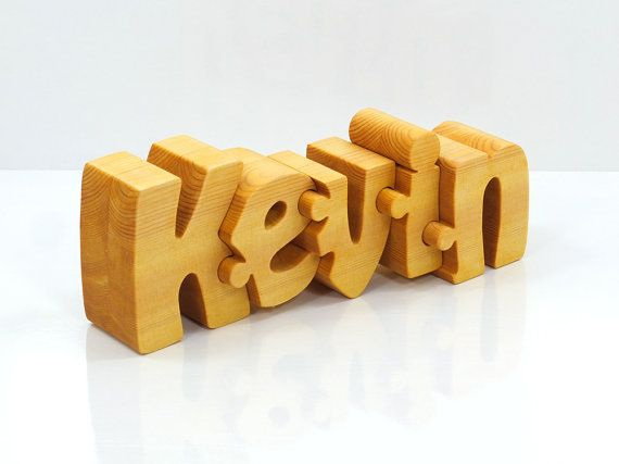 Personalized Wooden Name Puzzle от Name2Puzzle на Etsy