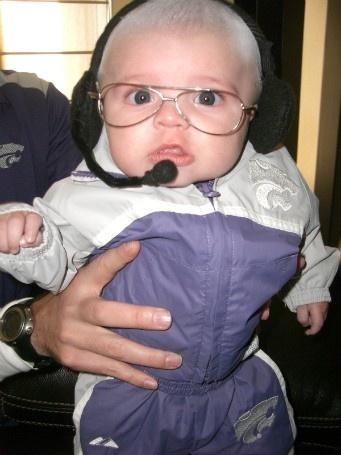 Greatest baby boy halloween costume ever! Baby Bill Synder!: Baby Costumes, Boys Halloween Costumes, Ksu Wildcats, Baby Bill, K S U.S. Wildcats, Baby Boys Halloween, Bill Synder, Bill Snyder, Greatest Baby