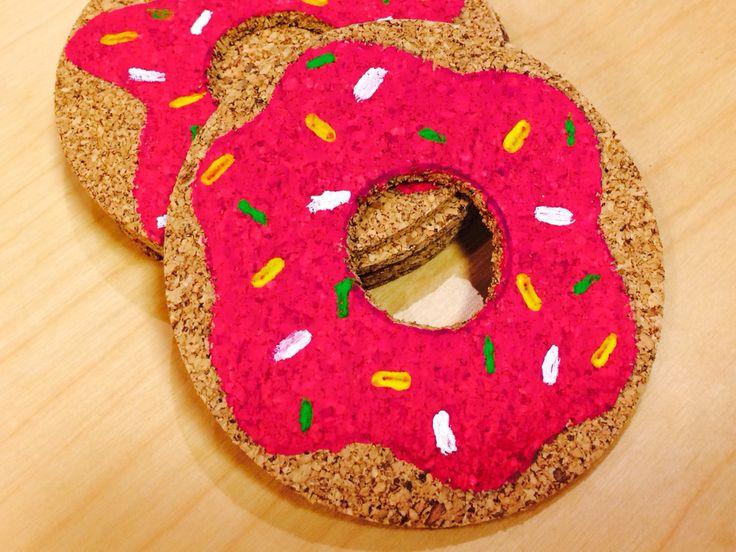 DIY pakket Donut onderzetters #inlovewithdonuts te vinden in onze online Shop www.femzshop.nl