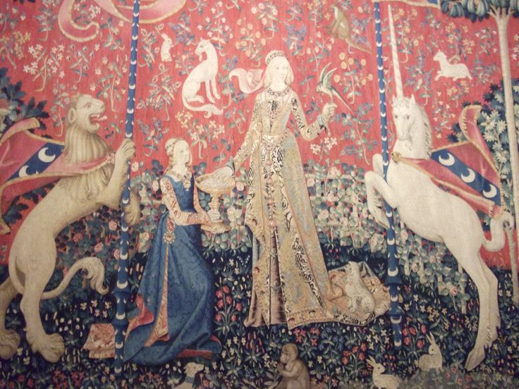#Art - The Lady and the Unicorn tapestries, at the Musée national du Moyen Âge, #Paris, #France