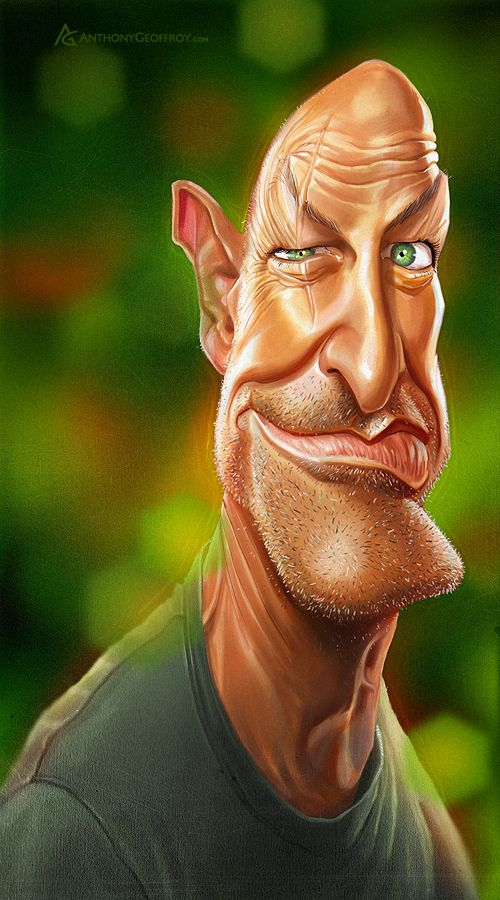 A caricature can refer to a portrait that exaggerates or distorts the essence of a person or thing to create an easily identifiable visual likeness.
