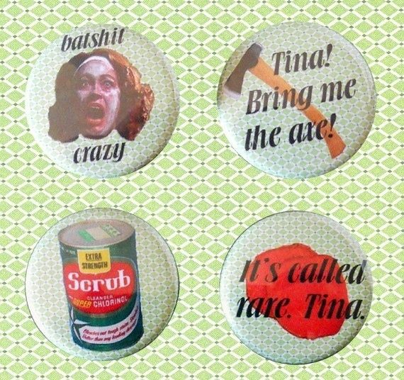Mommie Dearest Pinback Buttons by Razberries: $6.00 | The 7 Best Things To Buy From The Worst Shop Ever