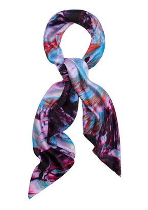 Weston Scarves Micro Crystal Silk Scarf - Crystal NEED THIS!