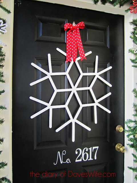 Popsicle stick door decoration