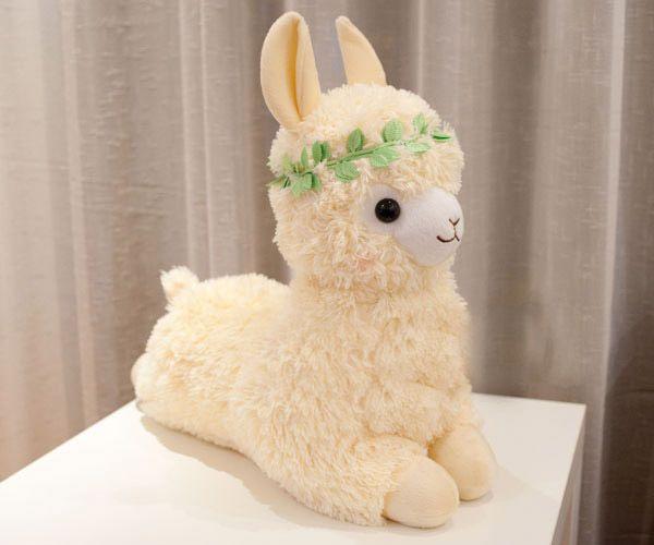 20 inches 50cm Arpakasso Alpacasso Alpaca Plush Toy Lovely Girl Bright yellow