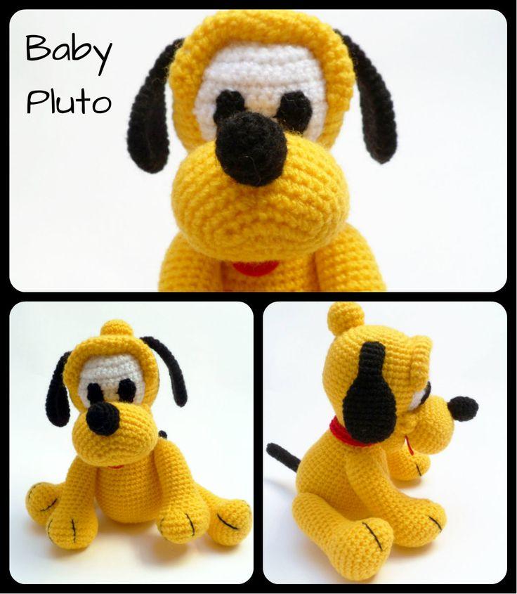 Baby Pluto amigurumi. Patrón en http://amigurumies.blogspot.com.es/2013/09/baby-pluto.html