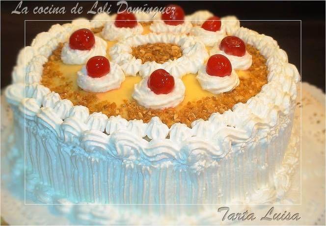 Receta en Cookpad: La Tarta Luisa es original y típica de mi pueblo, Espejo, Córdoba y es una deliciosa tarta que siempre se prepara para final de fiestas o celebraciones especiales, tarta con tres capas de crema pastelera una de ellas sabor chocolate, bañada con un almíbar y cubierta de un delicioso merengue y espolvoreado un crujiente crocanti de almendra que ni decir tiene que esta ¡¡riquíiiiiiisima!!